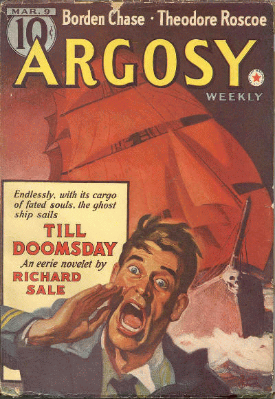 "Cover of Argosy magazine featuring ""Till Doomsday"""